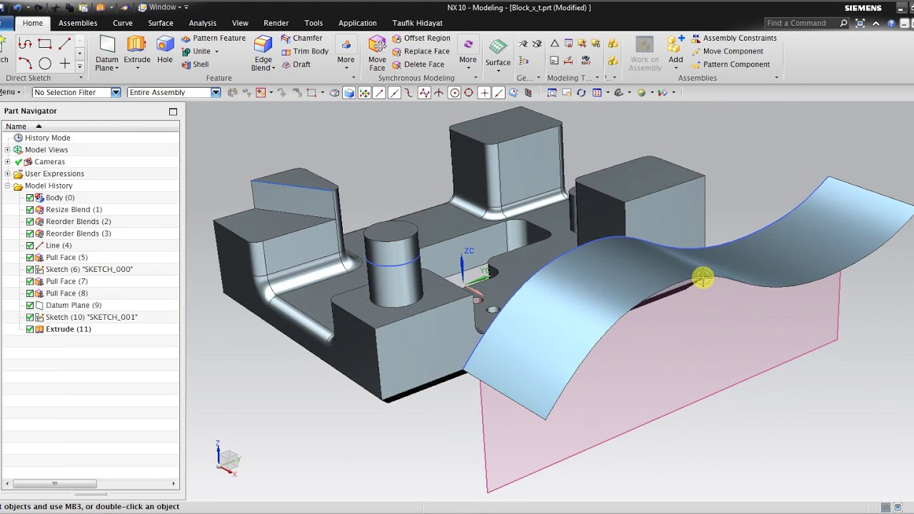 Synchronous modeling trong NX
